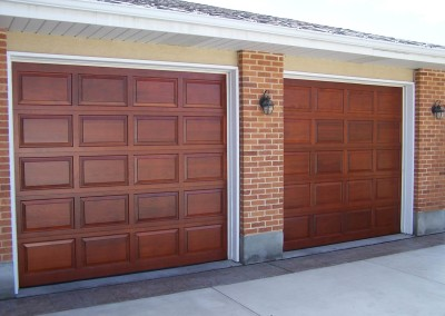 Single Wooden Garage Door