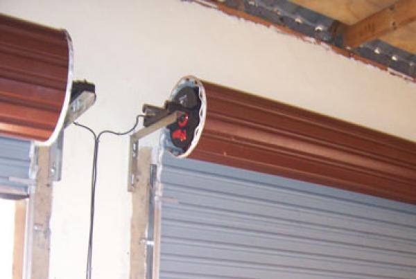 Roll up garage door rdo motor installed eec secure for Cost of garage door motor installation