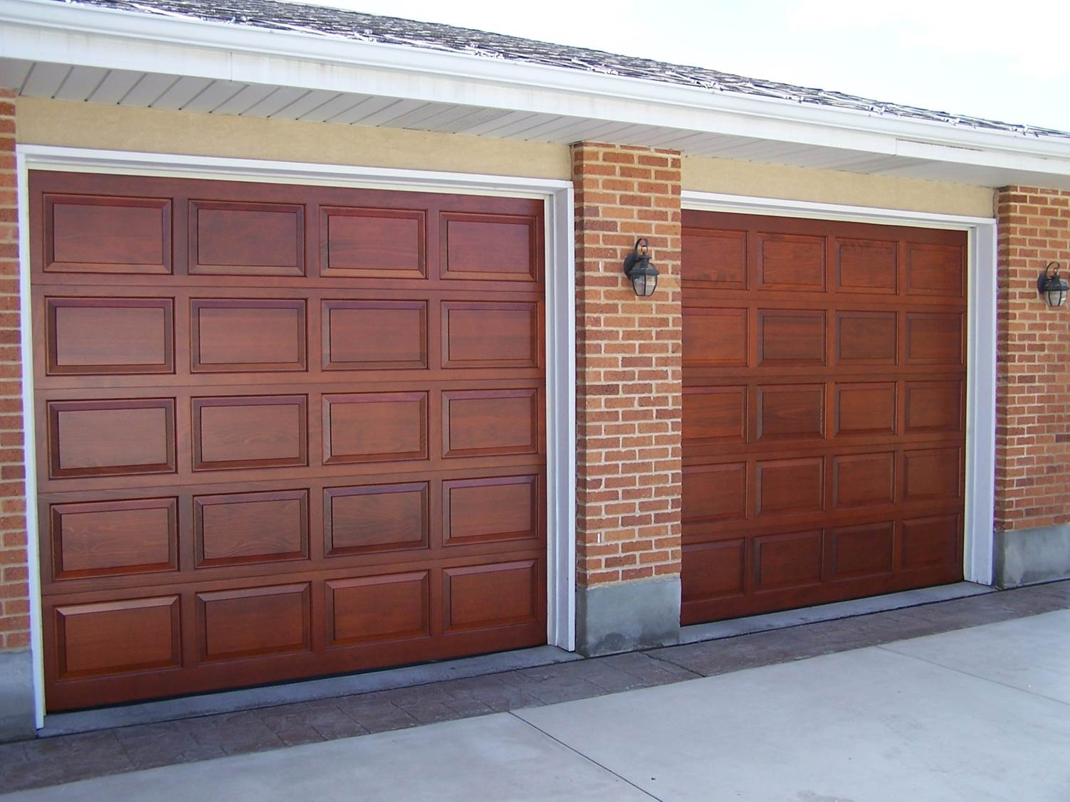 Wooden Garage Door Eec Secure Gate Motors Fencing